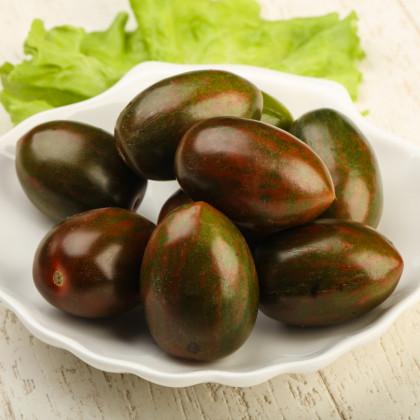 Rajče Černá švestka - Solanum lycopersicum - semena původních odrůd rajčat - 6 ks