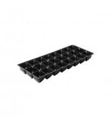 Sadbovací deska do miniskleníku - černá barva - 24 buněk - 1 ks