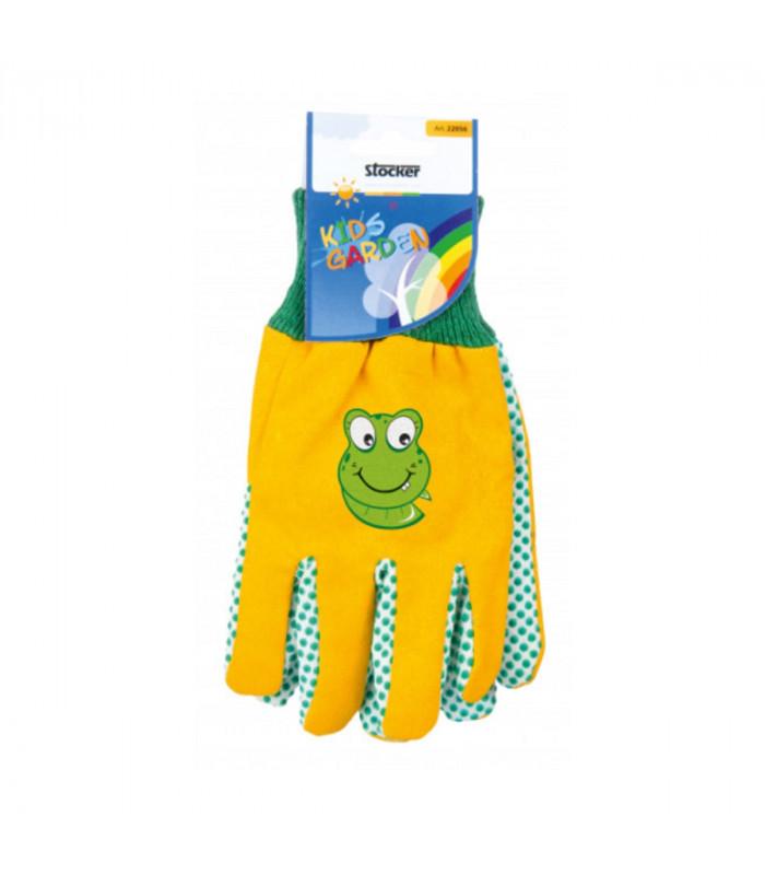 Dětské pracovní rukavice Stocker - žluté - 1 pár