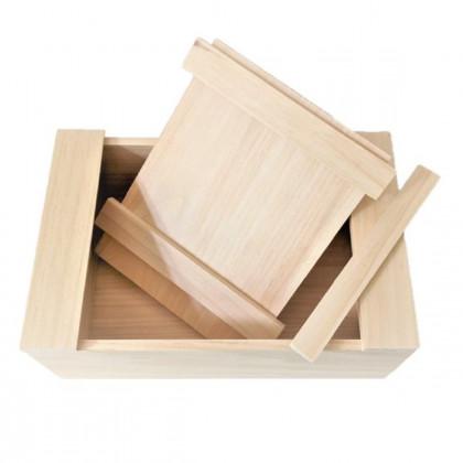 Krabička dřevěná - uzavíratelný box - 1 ks